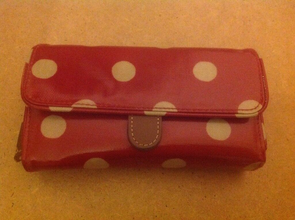 Cath Kidston red polka dot purse, very good condition.