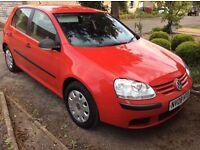 VW Golf S 1.6 FSI 5-door red petrol hatchback (2008). One owner.