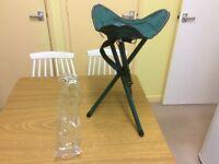 Maxim Collapsible Lightweight Tripod Chair Green