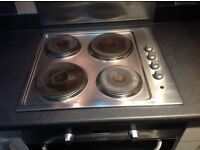 Electric 4 plate Hob. Stainless Steel.