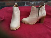 Next ankle boots size 4/37 beige leather