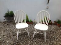 Two wooden kitchen/dining chairs -free delivery -garage clearance