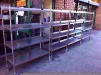 SHELVING FASTFOOD STORAGE RACKS COMMERCIAL RESTAURANT TAKEAWAY CANTEEN SHOP CAFETERIA DINER PUB
