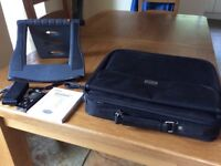 Laptop bag, cooling stand and digital voice recorder