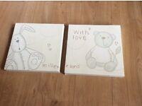Millie & Boris Canvas Prints for a nursery