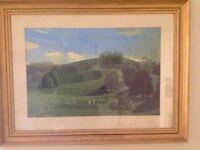 Cricket On The Downs by David Inshaw