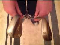 Titleist SM4 Spin Milled Vokey Wedges, 56 & 60 degree, Oil Can finish hence the rust.