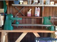 """Coronet 24"""" 3 speed wood turning lathe. **Excellent Condition**"""