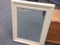 LARGE WOODEN FRAME MIRROR Possibly (Laura Ashley)?