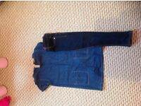 Next pinafore and jeans