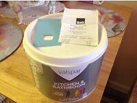 Brand new pot of Valspar emulsion paint 2.5 lr.