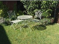 Vintage garden table set