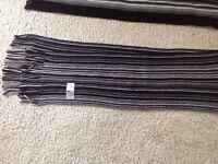 2 brand new, as in never worn, dark grey ,black scarves