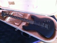 Charvel (Jackson) electric guitar; navy; including hard case **QUICK SALE WANTED**
