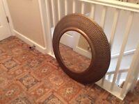 NEXT Beaten Brass/ Copper Mirror...as New