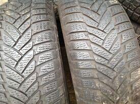 Winter tyres/ 205/55/16 Dunlop 7.6mm- Runflat- sets & pairs / open 7 days a week