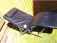 Carmen massage chair - black in colour.