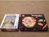 2 x used jigsaw puzzles