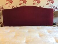 Maroon kingsize headboard