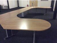 Large Beech Reception Desk