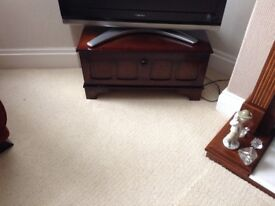 Wooden TV and Dvd shelf cabinet.