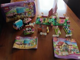 Lego Friends Heartlake Stables and Lego Friends Emma's Horse Trailer construction sets