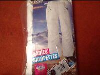 Ski trousers, salopettes ladies brand new size 10-12