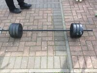 Dumbell and barbell set