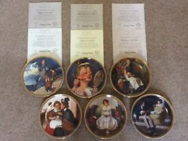 JOBLOT 6 Norman Rockwell First Edition Plates
