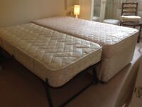 Single/guest trundle bed, good condition.