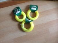 3 X ROLLS OF HEAVY DUTY STRIMMER LINE