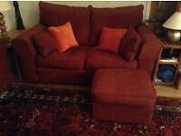 Collins and Hayes 2 seater sofa for sale minus footstool!