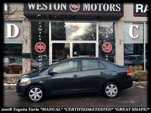 2008 Toyota Yaris MANUAL*CERTIFIED & ETESTED*GREAT SHAPE!!!