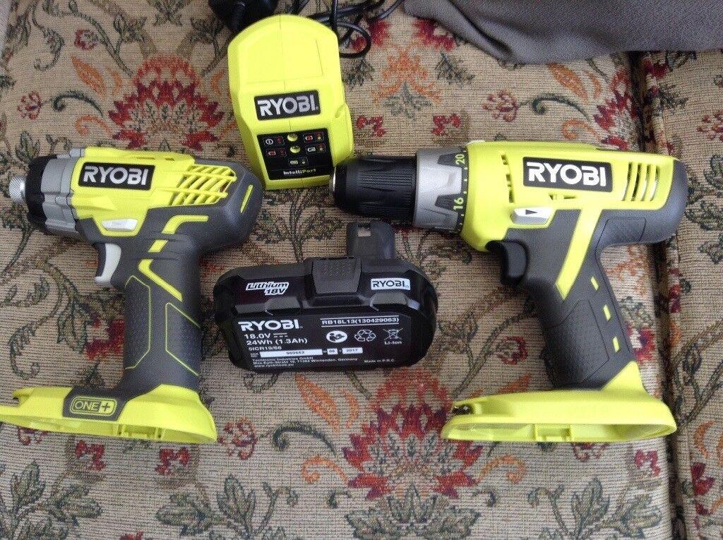 Ryobi impact drill and hammer drill