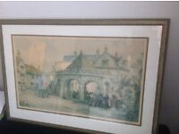Painting print by. E.R. Sturgeon limited edition framed and glazed,