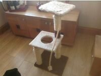 LUXUARY LARGE CAT SCRATCHER, CARRY CASE, AND FUN TOY