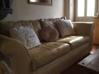 Collins and Hayes 3 seater hand crafted leather sofa