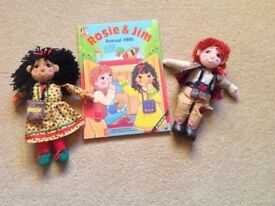 Rosie and Jim soft toys and annual.