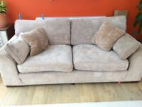 Large sofa.....excellent condition, beige chenille type material