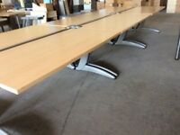 Six Beech Rectangle Desks