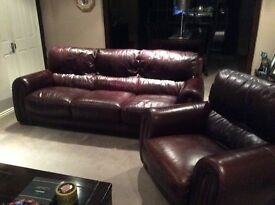 3 piece quality leather suite
