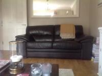 Large leather 2 seater sofa