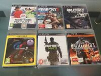 6 Games for PlayStation 3, Perfect condition.