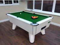 Supreme Winner pool table. Gloss white. New cloth