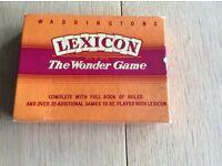 Vintage Waddingtons Lexicon card Games
