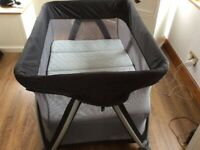 Nuna Sena Travel Cot and play pen with bassinet attachment