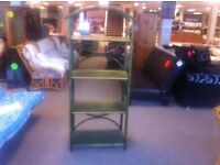 VERY GOOD CONDITION! Free standing lightweight wooden shelving unit