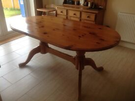 pine dining room table seats 6