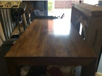 Wooden dining table 6'x3' £60