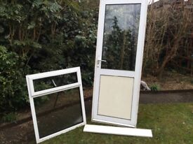 White Alumium door and window, vgc can deliver